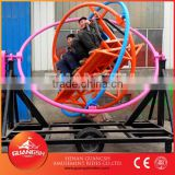 Promotional Sale ! playground carnival rides 6 seats human gyroscope trailer mounted amusement ride