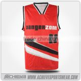 sublimated basketball team uniform, basketball jersey black and red