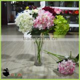 Artificial Flower Decoration Table Centerpiece , Artificial Fabric Flower Hydrangea Wedding Decor