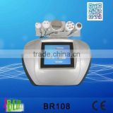 BR108 portable tripolar multipolar bipolar radio frequency cavitation machine for home use