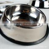 wholesale dog bowl with rubber ring