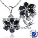 2013 Wholesale Natural Sapphire Jewelry Sets, 925 Sterling Silver Real Gemstone Jewelry Sets
