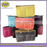 Oxford and Mesh Promotional Folding Fashion Cosmetic Bags with Compartments