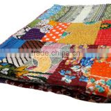 RTHKG-68 Patchwork Bengali Bed cover Kantha Handcrafted Gudari For Children's Sanganer Makers / Manufacturers