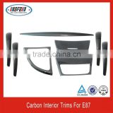 Auto interior trim parts real carbon interior trims fit for BMW E87
