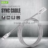 Zinc alloy metal port USB data cable for android, high end and factory price zinc alloy material