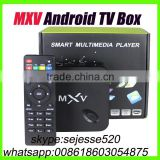 Newest arrival mxv s805 quad core Kodi pre-installed android4.4 tv box support bluetooth better than mx mx2