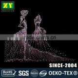 Wholesale Hot Fix Motif Lead Free Hotfix Transfer with Rhinestones and Studs for T-shirt Trousers