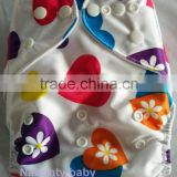 New design cute print pocket newborn baby cloth diapers Eco friendly reusable infant baby diaper cover washable baby nappy cover