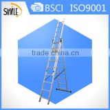 5m extension ladder 8 step foldable ladder aluminum safty profile with EN131 certificate