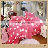 Manufactory walmart alibaba china home textile luxury dot printed bunk bed desk set