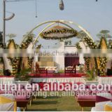 HX309wholesale indian wedding party events decoration design round mandap/Wedding backdrop/pipe