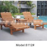 Factory direct low price folding wooden sun lounger beach chair Hot sales