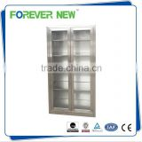 YXZ-C-053 Waterproof Hospital Furniture Medical Storage Glass Cabinet / Metal Instrument Cupboard