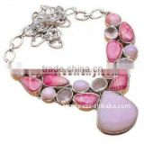 Popular Rhodochrosite Necklace With Gemstones Stone Rings For Sale Trendy Fashion Jewelry Necklaces