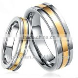 2013 New Products for , fashion accessories for men, Tungsten carbide ring with 18k Gold