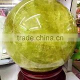 Wholesale natural citrine quartz crystal sphere/ball polished healing,magic sphere