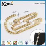 Fashion Gold Stainless Steel Metal Strap Chain For Purse