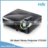 2015 Hologram windows display avertising 4500 Lumens 100 inches image 1.36m DLP 3D short throw Projector