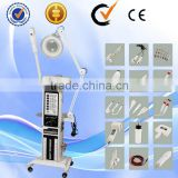 14 in 1 Multifunctiona facial mist sprayer ultrasonic deep cleaning brush skin scrubber wrinkle removal machine AU-2008