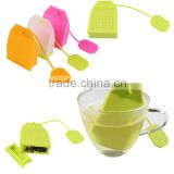Kitchen Silicone Colorful Tea Bag Shape Tea Infuser - Loose Leaf Herbal Tea Filter Strainer For Mug Cup