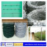 Barbed Wire Fencing Prices/knotted welded wire mesh fence/Competitive Price double-twist barbed wire screwed