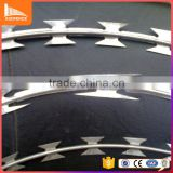 silver color and smooth surface razor wire fence coated copper wire for jewelry
