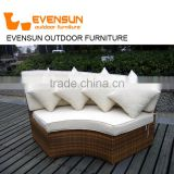 Outdoor sunbed Resin Rattan Outdoor Daybed with Canopy