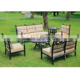Garden outdoor cast aluminum sofa set patio new premium house outdoor furniture metal sofa wholesaler