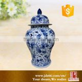 Professional custom made blue and white ginger jar