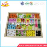 Wholesale DIY intelligent wooden beads box toy colorful kids wooden beads box toy W11E011