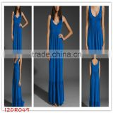 apparel!12DR045 2012 Hot Selling new fashion casual maxi ladies' dress with front buttons for Summer,latest design