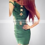 High Quality Hot HL Sequined Red Green Black Bandage Dress Evening Party Bodycon Dress