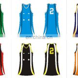 trendy new style custom netball wear in good quality