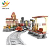 Most popular high quality 462PCS plastic creative blocks train building toys for boys