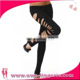 Fashion New Arrival Personality Punk Candy Color Broken Holes Sexy Stretch Soft Pants Legging