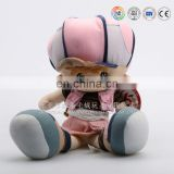 Plush big head big cap baby boy doll