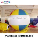 Colorful giant inflatable helium beach baseball balloon fly in the sky for events