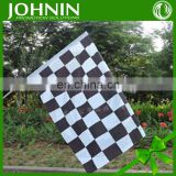wind-proof durable racing-used black and white hand flag