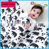 Elinfant breathable muslin swaddle baby blanket customized package