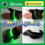 High visibility palm flashing led glove fingerless sports gloves super light gloves green glove