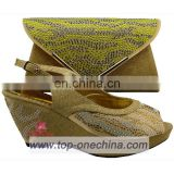 ladies italian shoe and bag/ wedding shoe wholesale shoe and matching bag