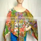 Polyester printed poncho