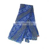 Women's Dress Blue Designer Traditional Print Georgette Party Wear Saree