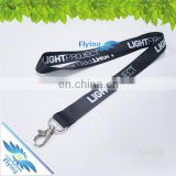 Branded polyester lanyards with logo custom, wholesale neck straps with metal lobster claw hook for events