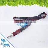 Popular dye sublimation lanyard with various/double hooks, printing custom logo neck lanyards for events