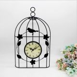 Bird cage metal wall clock home decoration iron clock