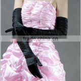 Instyles Black/White Bride Wedding Party Dress Fingerless Pearl Lace Satin Bridal Glove