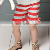 New Fabric Cotton Ruffle Cotton Pants Baby Girls Cotton Knit Leggings Baby Colorful Ruffle Stripe Matching Leggings Pants