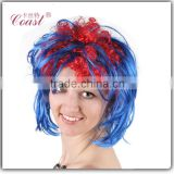 female synthetic carnival party wig afro colorful curly wig